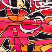 "Tissu jersey motif tags ""Graffiti Art Wall"" - Multicolore Autres marques - Tissus et mercerie - 5"