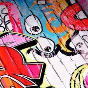 "Tissu jersey motif tags ""Graffiti Art Wall"" - Multicolore Autres marques - Tissus et mercerie - 2"