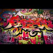 "Tissu jersey motif tags ""Graffiti Art Wall"" - Multicolore Autres marques - Tissus et mercerie - 3"