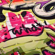 "Tissu jersey motif tags ""Graffiti Art Wall"" - Multicolore Autres marques - Tissus et mercerie - 4"