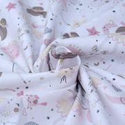 """Tissu coton motif Fée """"Demilune"""" - Rose - Oeko-Tex ® Autres marques - Tissus et mercerie - 3"""