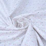 """Tissu coton motif Etoiles """"Simia"""" - Blanc et rose - Oeko-Tex ® Autres marques - Tissus et mercerie - 2"""
