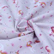 """Tissu coton motif Licorne """"Ingela"""" - Rose - Oeko-Tex ® Autres marques - Tissus et mercerie - 3"""