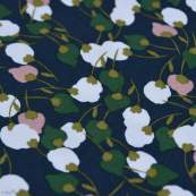 "Tissu viscose motif Fleurs ""Kisnek"" - Bleu nuit et vert - Oeko-Tex ® Autres marques - Tissus et mercerie - 2"