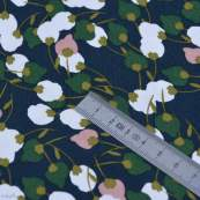 "Tissu viscose motif Fleurs ""Kisnek"" - Bleu nuit et vert - Oeko-Tex ® Autres marques - Tissus et mercerie - 5"