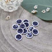 Bouton halo - Cobalt - Atelier brunette ® Atelier BRUNETTE ® - Tissus et mercerie - 3