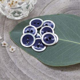 Bouton halo - Cobalt - Atelier brunette ® Atelier BRUNETTE ® - Tissus et mercerie - 1