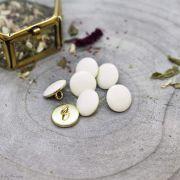 Bouton gem - Off White - Atelier brunette ® Atelier BRUNETTE ® - Tissus et mercerie - 2