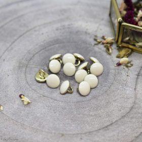 Bouton gem - Off White - Atelier brunette ® Atelier BRUNETTE ® - Tissus et mercerie - 1