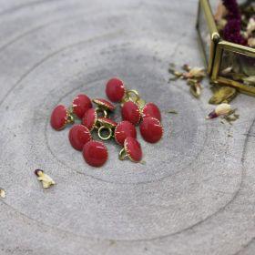 Bouton gem - Terracotta - Atelier brunette ® Atelier BRUNETTE ® - Tissus et mercerie - 1