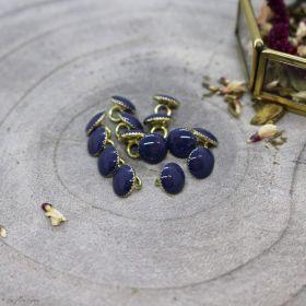 Bouton gem - Cobalt - Atelier brunette ® Atelier BRUNETTE ® - Tissus et mercerie - 1