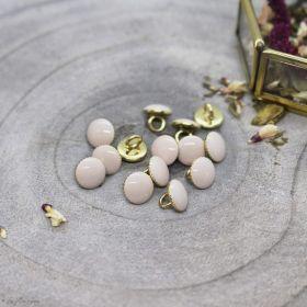 Bouton gem - Blush - Atelier brunette ® Atelier BRUNETTE ® - Tissus et mercerie - 1