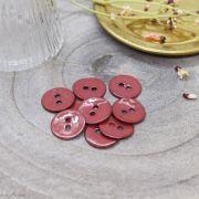 Bouton glossy - Terrracotta - Atelier brunette ® Atelier BRUNETTE ® - Tissus et mercerie - 1