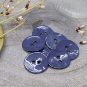 Bouton glossy - Cobalt - Atelier brunette ® Atelier BRUNETTE ® - Tissus et mercerie - 2