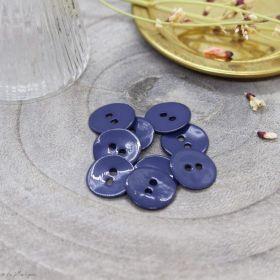 Bouton glossy - Cobalt - Atelier brunette ® Atelier BRUNETTE ® - Tissus et mercerie - 1