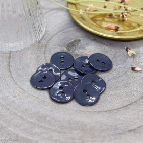Bouton glossy - Bleu Foncé - Atelier brunette ® Atelier BRUNETTE ® - Tissus et mercerie - 1