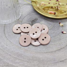 Bouton glossy - Blush - Atelier brunette ® Atelier BRUNETTE ® - Tissus et mercerie - 1