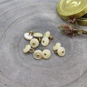 Bouton jewel - Off White - Atelier brunette ® Atelier BRUNETTE ® - Tissus et mercerie - 1