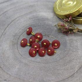 Bouton jewel - Terracotta - Atelier brunette ® Atelier BRUNETTE ® - Tissus et mercerie - 1