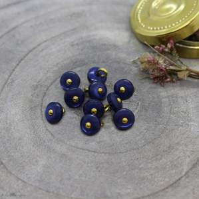 Bouton jewel - Cobalt - Atelier brunette ® Atelier BRUNETTE ® - Tissus et mercerie - 1