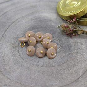 Bouton jewel - Blush - Atelier brunette ® Atelier BRUNETTE ® - Tissus et mercerie - 1