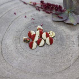 Bouton wink - Off White et Terracotta - Atelier brunette ® Atelier BRUNETTE ® - Tissus et mercerie - 1