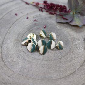 Bouton wink - Off White et Cactus - Atelier brunette ® Atelier BRUNETTE ® - Tissus et mercerie - 1