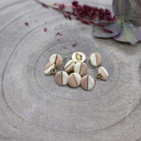 Bouton wink - Off White et Maple - Atelier brunette ® Atelier BRUNETTE ® - Tissus et mercerie - 1