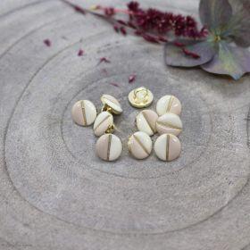 Bouton wink - Off White et Blush - Atelier brunette ® Atelier BRUNETTE ® - Tissus et mercerie - 1