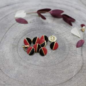 Bouton wink - Black et Terracotta - Atelier brunette ® Atelier BRUNETTE ® - Tissus et mercerie - 1
