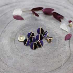 Bouton wink - Black et Cobalt - Atelier brunette ® Atelier BRUNETTE ® - Tissus et mercerie - 1