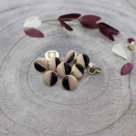 Bouton wink - Black et Maple - Atelier brunette ® Atelier BRUNETTE ® - Tissus et mercerie - 1