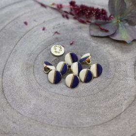 Bouton wink - Off White et Cobalt - Atelier brunette ® Atelier BRUNETTE ® - Tissus et mercerie - 1