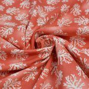 "Tissu coton motif coraux ""Beach Travel"" - Orange e blanc - Oekotex - AGF ® 3 Wishes Fabrics ® - 3"