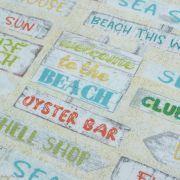 "Tissu coton motif panneaux ""Beach Travel"" - Multicolore - Oekotex - AGF ® 3 Wishes Fabrics ® - 2"