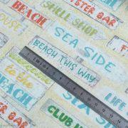 "Tissu coton motif panneaux ""Beach Travel"" - Multicolore - Oekotex - AGF ® 3 Wishes Fabrics ® - 5"