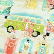 "Tissu coton motif combi ""Beach Travel"" - Multicolore - Oekotex - 3 Wishes ® 3 Wishes Fabrics ® - 3"