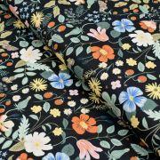 """Tissu coton motif fleuri """"Strawberry Fields"""" - Cotton and steel ® Cotton + Steel Fabrics ® - Tissus - 1"""