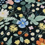 """Tissu coton motif fleuri """"Strawberry Fields"""" - Cotton and steel ® Cotton + Steel Fabrics ® - Tissus - 3"""