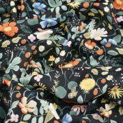 """Tissu coton motif fleuri """"Strawberry Fields"""" - Cotton and steel ® Cotton + Steel Fabrics ® - Tissus - 5"""