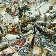 "Tissu coton motif tête de mort ""Skelewags"" pirates - Multicolore - Henry Alexander ® Alexander HENRY Fabrics ® - Tissus - 6"