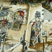 "Tissu coton motif tête de mort ""Skelewags"" pirates - Multicolore - Henry Alexander ® Alexander HENRY Fabrics ® - Tissus - 3"