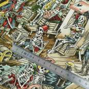 "Tissu coton motif tête de mort ""Skelewags"" pirates - Multicolore - Henry Alexander ® Alexander HENRY Fabrics ® - Tissus - 8"