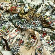 "Tissu coton motif tête de mort ""Skelewags"" pirates - Multicolore - Henry Alexander ® Alexander HENRY Fabrics ® - Tissus - 7"