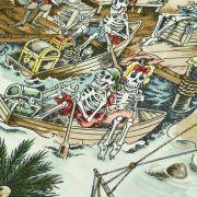 "Tissu coton motif tête de mort ""Skelewags"" pirates - Multicolore - Henry Alexander ® Alexander HENRY Fabrics ® - Tissus - 4"