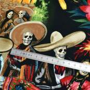 "Tissu coton motif tête de mort ""Fiesta De San Marcos"" - Multicolore - Henry Alexander ® Alexander HENRY Fabrics ® - Tissus - 6"