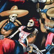 "Tissu coton motif tête de mort ""Fiesta De San Marcos"" - Multicolore - Henry Alexander ® Alexander HENRY Fabrics ® - Tissus - 2"