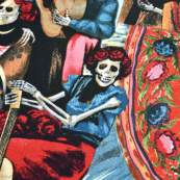 "Tissu coton motif tête de mort ""Fiesta De San Marcos"" - Multicolore - Henry Alexander ® Alexander HENRY Fabrics ® - Tissus - 3"