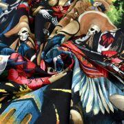 "Tissu coton motif tête de mort ""Fiesta De San Marcos"" - Multicolore - Henry Alexander ® Alexander HENRY Fabrics ® - Tissus - 5"