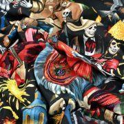 "Tissu coton motif tête de mort ""Fiesta De San Marcos"" - Multicolore - Henry Alexander ® Alexander HENRY Fabrics ® - Tissus - 4"